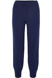 Theory Wool Blend Track Pants Navy