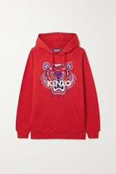 Kenzo Embroidered Cotton Jersey Hoodie