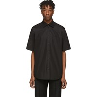 Balenciaga Black Rubber Logo Short Sleeve Shirt