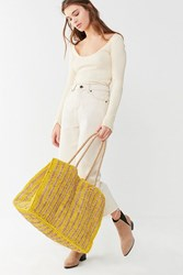 Urban Outfitters Extra Large Woven Tote Bag Yellow