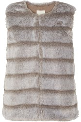 Joie Andrina Faux Fur Vest Brown