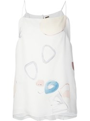 Adam By Adam Lippes Adam Lippes Printed Silk Vest White