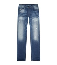 Diesel Skinny Faded Jogger Jeans Male Blue