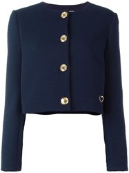 Love Moschino Quilted Jacket Blue