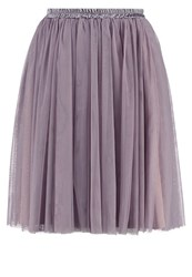 Oh My Love Oh My Live Aline Skirt Taupe Purple