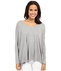 Culture Phit Calista Waffle Knit Oversized Top Heather Grey Women's Clothing Gray