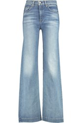Rag And Bone Justine High Rise Flared Jeans Light Blue