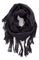 Women's Bp. Chunky Knit Fringe Scarf Charcoal