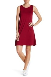 Loveappella Sleeveless Swing Dress Petite Red