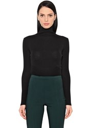 Antonio Berardi Wool And Silk Cropped Sweater