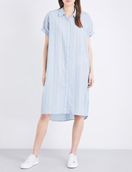 The Great Camper Cotton Shirt Dress Chambray Dobby
