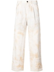 Individual Sentiments Tie Dye Trousers White