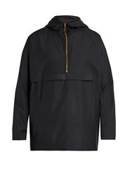 Oliver Spencer Cagoule Lightweight Hooded Jacket Navy