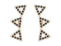 Rebecca Minkoff Pave Triangle Ear Climber Earrings Rose Gold Black Earring