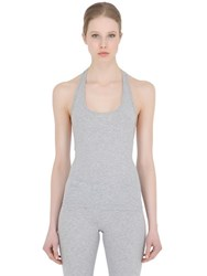Dsquared Logo Racerback Cotton Jersey Tank Top
