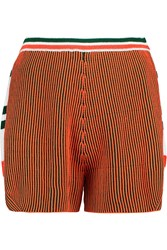 M Missoni Knitted Cotton Blend Shorts Orange