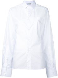 Each X Other Cut Out Back Shirt Women Cotton S White