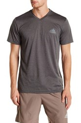 Adidas Climalite Essential V Neck Tech Tee Gray