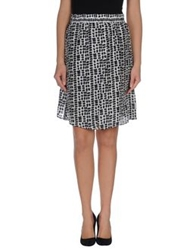 Fabrizio Lenzi Knee Length Skirts Black