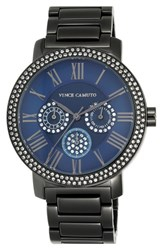 Women's Vince Camuto Crystal Multifunction Bracelet Watch 42Mm