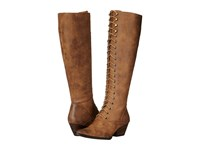 Volatile Clementine Tan Women's Lace Up Boots