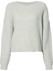 Just Female Ribbed Knit Jumper Grey