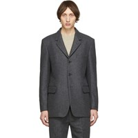 Christophe Lemaire Grey Felted Wool Blazer