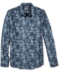 American Rag Men's Vintage Cotton Floral Print Shirt Only At Macy's Basic Navy