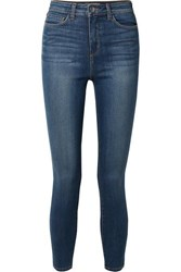 L'agence Margot Cropped High Rise Skinny Jeans Mid Denim