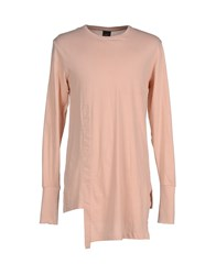 Mnml Couture Topwear T Shirts Men Pink