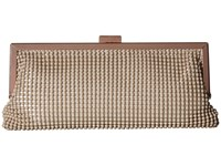 Jessica Mcclintock Erin Ball Mesh Frame Clutch Taupe Clutch Handbags