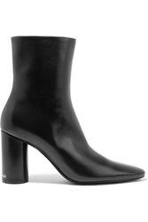 Balenciaga Oval Leather Ankle Boots Black