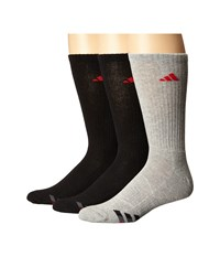 Adidas Cushioned Color 3 Pack Crew Black Heather Grey Ray Red Collegiate Burgundy Onix Men's Crew Cut Socks Shoes Multi