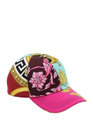 Versace Printed Satin Baseball Hat Multicolor