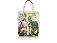 Marc Jacobs Women's Camouflage Denim Tote Bag White