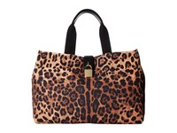 Dolce And Gabbana Shopping Canvas Tote Leopard