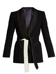 Blaze Milano Midnight Smoking Cool And Easy Wool Blazer Black