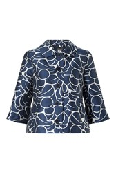 James Lakeland Taffeta Jacquard Jacket Navy