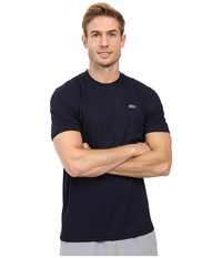 Lacoste Sport Short Sleeve Solid Ultra Dry Tee Shirt Navy Blue Men's T Shirt