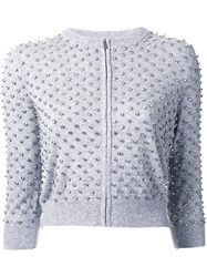 Michael Kors Crystal Embellished Cardigan Grey
