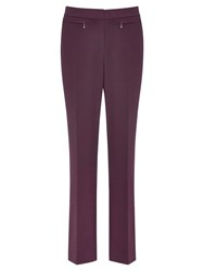 Viyella Slim Leg Trousers Purple