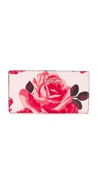 Kate Spade Roses Stacy Snap Wallet Pink Sand Multi