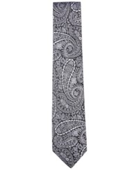 Countess Mara Men's Highridge Paisley Tie Black White