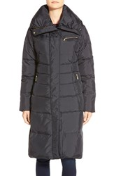 Women's Cole Haan Asymmetrical Zip Long Down And Feather Fill Coat