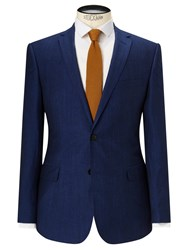 John Lewis Kin By Ayris Linen Wool Slim Suit Jacket Electric Blue