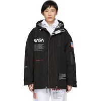 Heron Preston Black Nasa Edition High Tech Coat