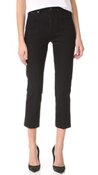 Gold Sign The Refit High Rise Cropped Jeans Pressed Black