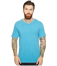 Threads For Thought Standard V Neck Tee Aqua Men's T Shirt Blue