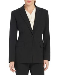 Ellen Tracy Solid Long Sleeve Blazer Black