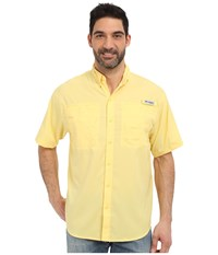 Columbia Tamiami Ii S S Sunlit Men's Short Sleeve Button Up Yellow